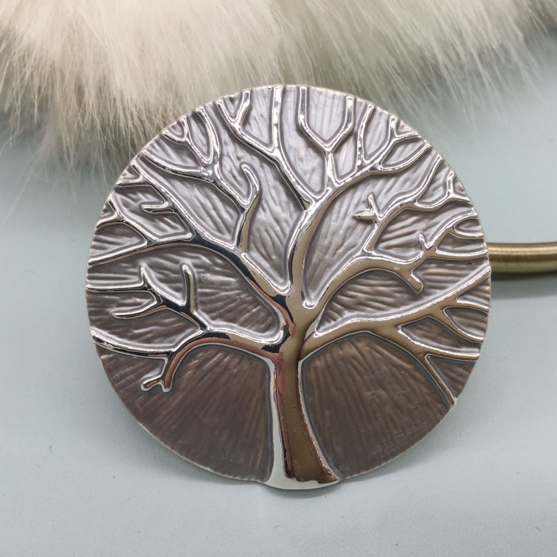 Large Tree of Life style magnetic brooch