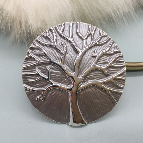 Large Tree of Life style magnetic brooch in various colours
