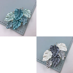 Leaf ladder magnetic brooch