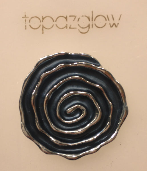 Magnetic Spiral-Design Brooch