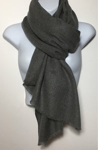Super soft charcoal grey plain edge scarf