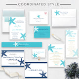 Starfish Beach Wedding Invitation - Flat Printing - Sample