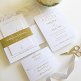Charleston Wedding Invitation with Belly Band