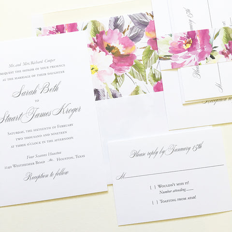 Simple Elegant Wedding Invitation - Flat Printing