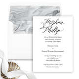 Modern Elegant Wedding Invitation - Flat Printing - Sample