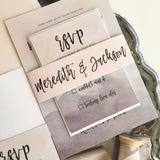 Pink Marble Wedding Invitation - Flat Printing - Sample