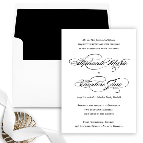 Formal Wedding Invitation - Flat Printing - Sample
