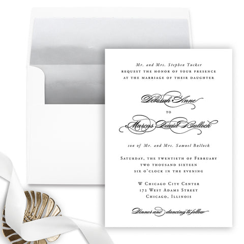Grace Wedding Invitation - Flat Printing - Sample