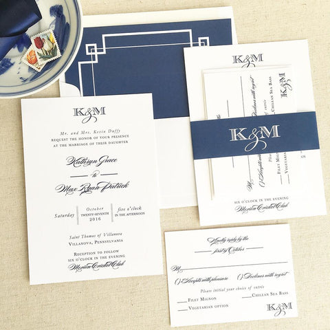 Kathryn Wedding Invitation - Flat Printing