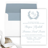 Laurel Wreath Wedding Invitation - Flat Printing - Sample