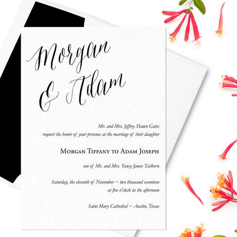 Lovely Wedding Invitation - Flat Printing