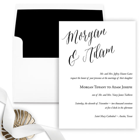Lovely Wedding Invitation - Flat Printing - Sample