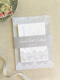 Elegant Lace Wedding Invitation - Flat Printing - Sample