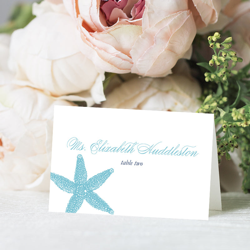Starfish Beach Place Card