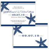 Starfish Save the Date Card