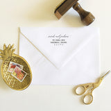 Flowing Calligraphy Address Stamp