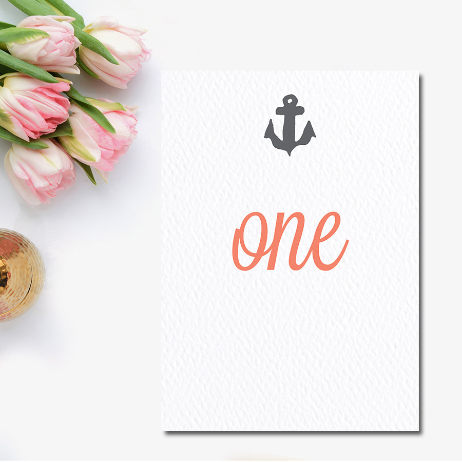 Nautical Anchor Table Number