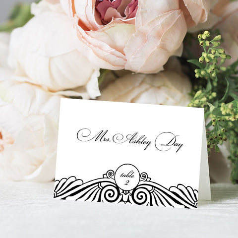 Art Deco Place Card