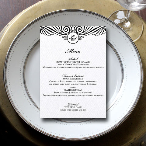 Art Deco Menu