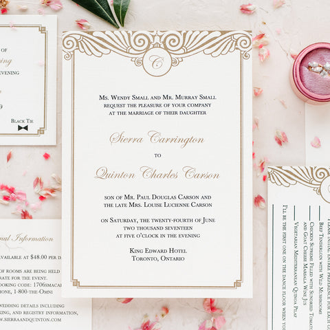 modern elegant wedding invitations thermography wedding