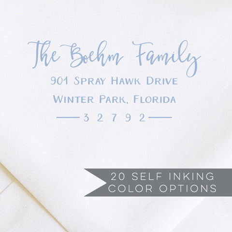 Modern Calligraphy Return Address Stamp
