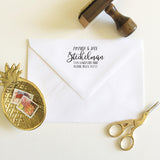 Relaxed Calligraphy Address Stamp