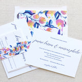 Romantic Calligraphy Wedding Invitation - Flat Printing - Sample