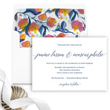 Romantic Calligraphy Wedding Invitation - Flat Printing