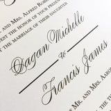 Large Calligraphy Bride and Groom Names Wedding Invite