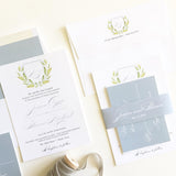Crest Monogram Wedding Invitation