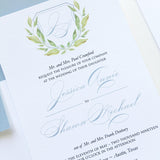 Leaf Crest Wedding Invitation