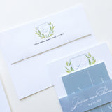 Wedding envelope printed with custom monogram