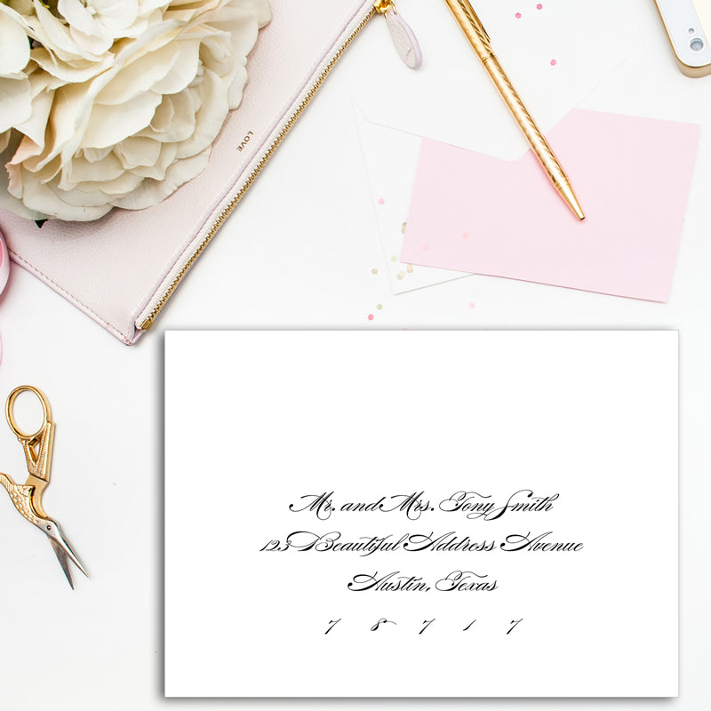 Calligraphy Zip Guest Address Printing