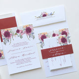 Floral Fall Wedding Invitation