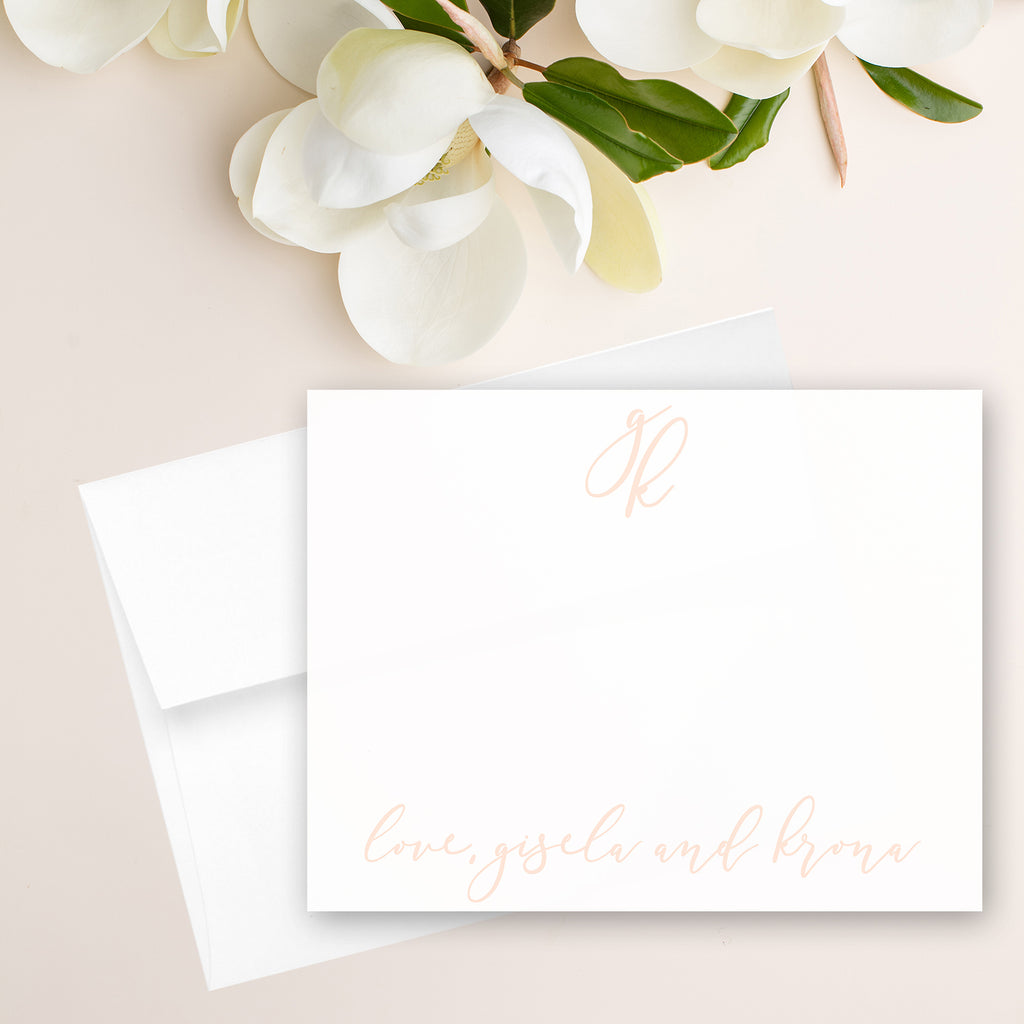Modern Calligraphy Initials Note Card