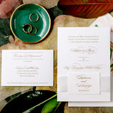 Wedding Invitation with Ribbon Belly Band