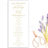 Charleston Wedding Program