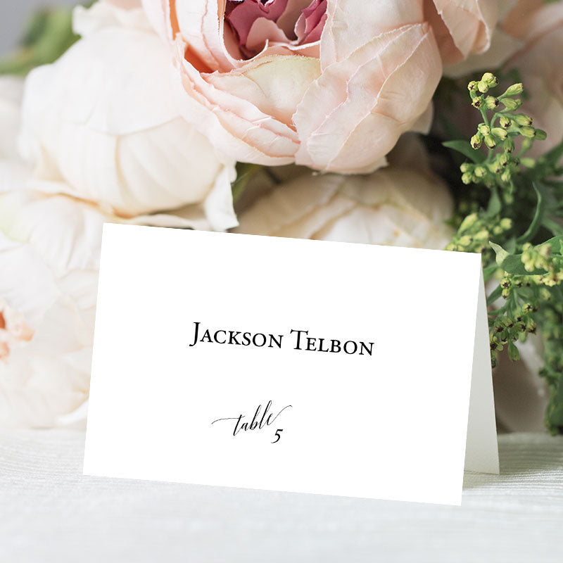 Modern Elegant Place Card