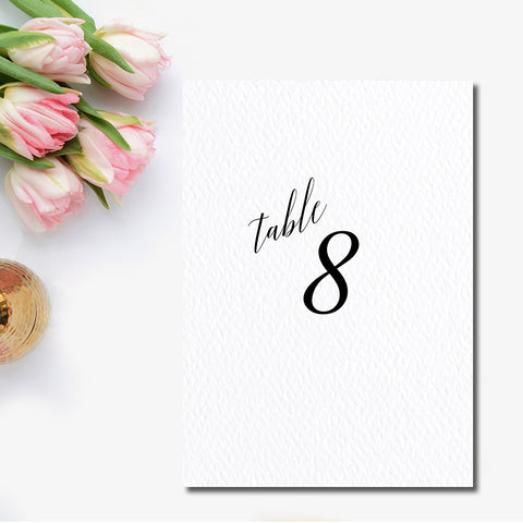 Modern Elegant Table Number