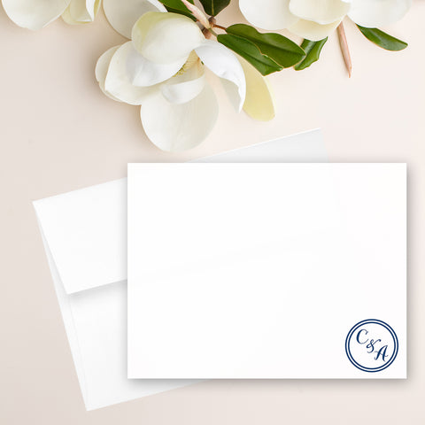 Circle Monogram Note Card