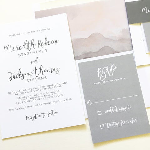 Simple Modern Wedding Invitation - Flat Printing