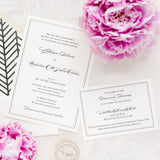 Border Wedding Invitation