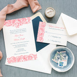 Vintage Romantic Wedding Invitation - Thermography - Sample