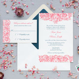 Vintage Romantic Wedding Invitation - Thermography