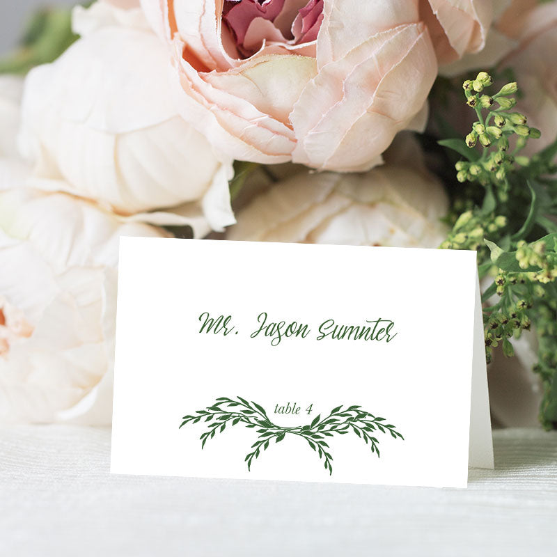 Leaf Wreath Place Card