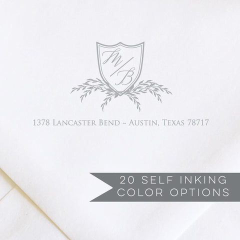 Botanical Crest Address Stamp