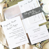 Elegant Calligraphy Wedding Invitation - Flat Printing