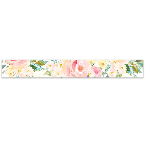 Pink Floral Watercolor Belly Band