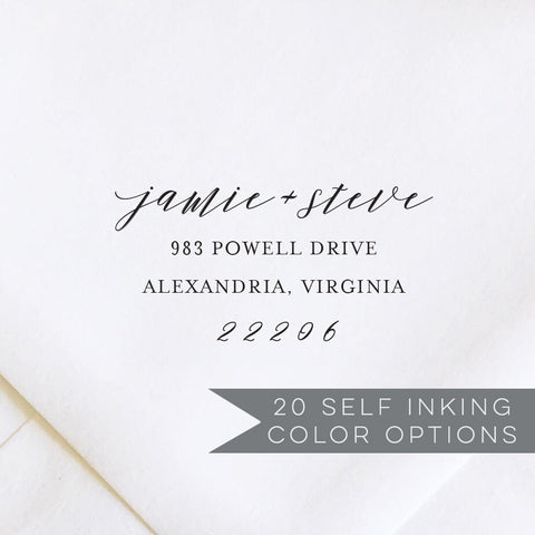 Casual Calligraphy Address Stamp