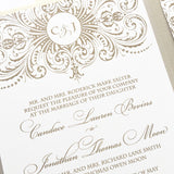 Great Gatsby Wedding Invitation - Thermography - Sample